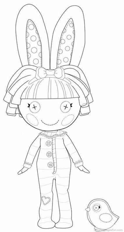 lalaloopsy coloring pages 4 - Lalaloopsy Coloring Pages Mittens