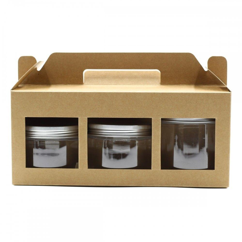 لتقديم وحفظ علب البلاستيك علبة كرتوينه ب 3 نوافذ سهلة الحمل تستوعب 3 علب مناسبة لعلب البلاستيك مقاس 350 و 220 مل مقاس ا Flatware Tray Decor Magazine Rack