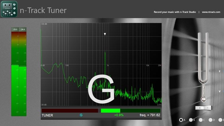 nTrack Tuner // Tune your guitar, bass or other