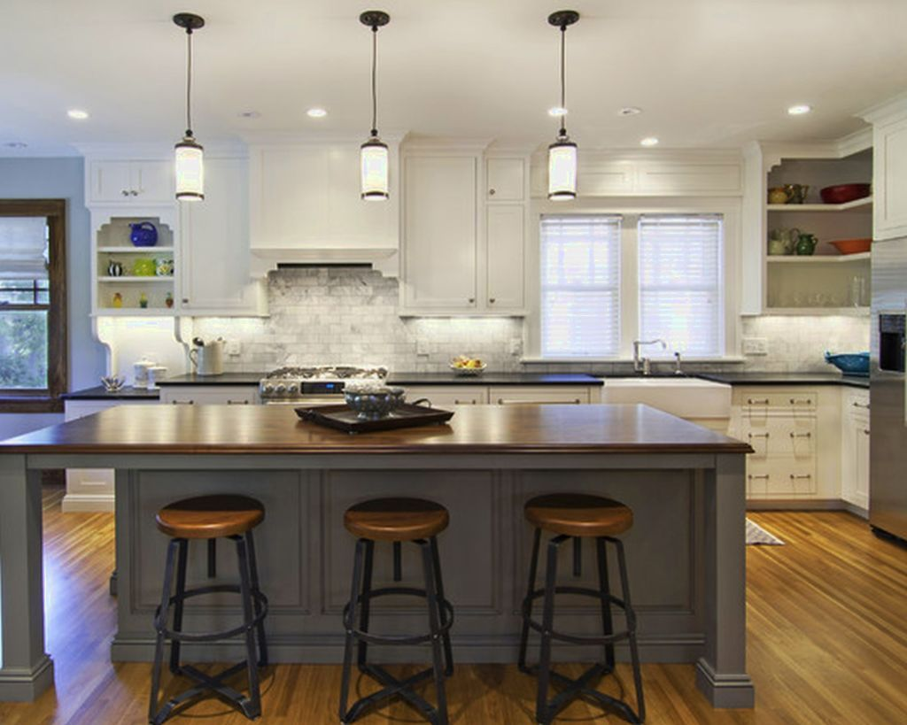 Hanging Lights Over Kitchen Island Gorgeous Pendant Lights For Kitchen Ideas Over Kitchen Island More