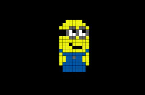 Minion Pixel Art Pixel Art Art 8 Bit Art