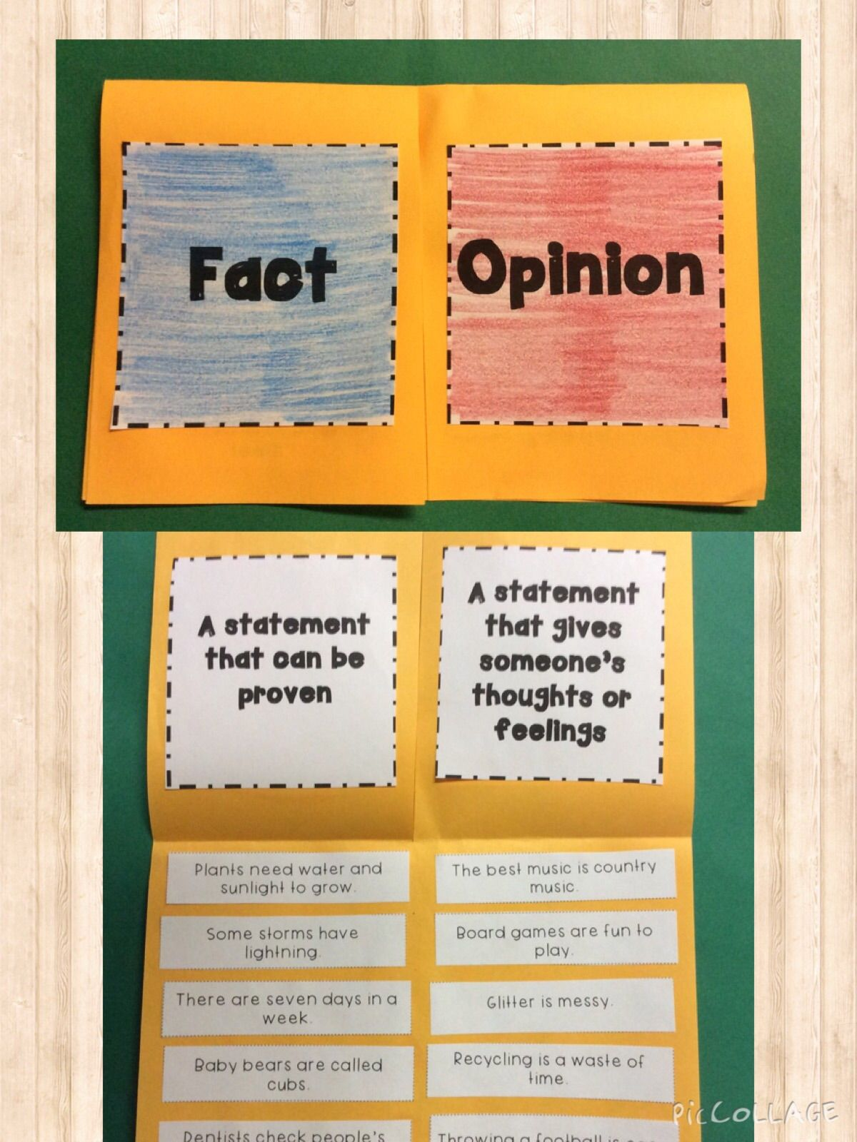 medium resolution of This fact and opinion foldable is so fun!   Fact and opinion