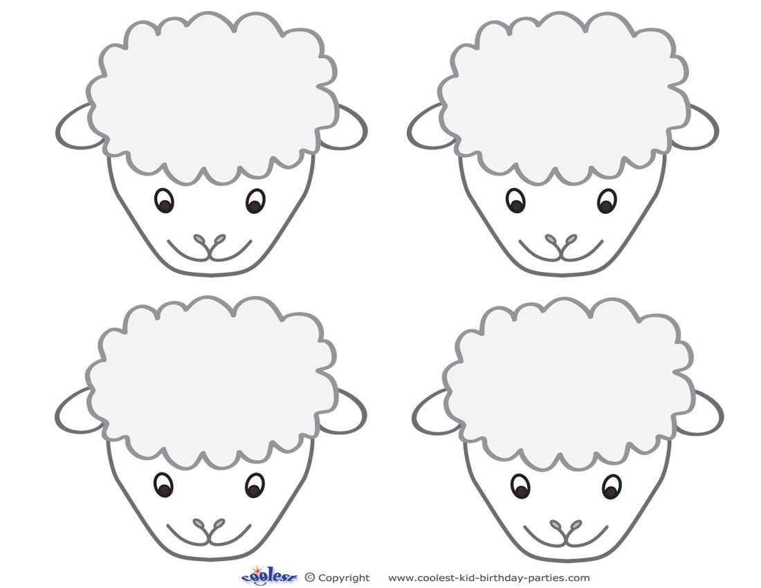Printable Sheep Face