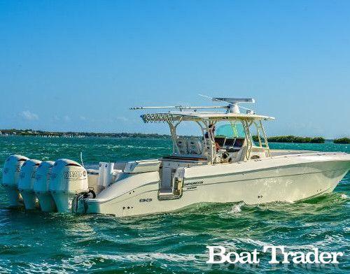 2013 Hydra-Sports 4200 Custom Fishing Edition, powered with Quad Yamaha F350s.