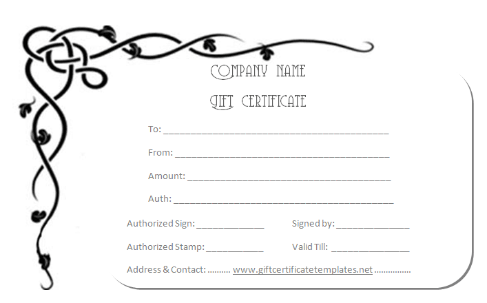 Corner Border Gift Certificate Template Beautiful Printable Gift