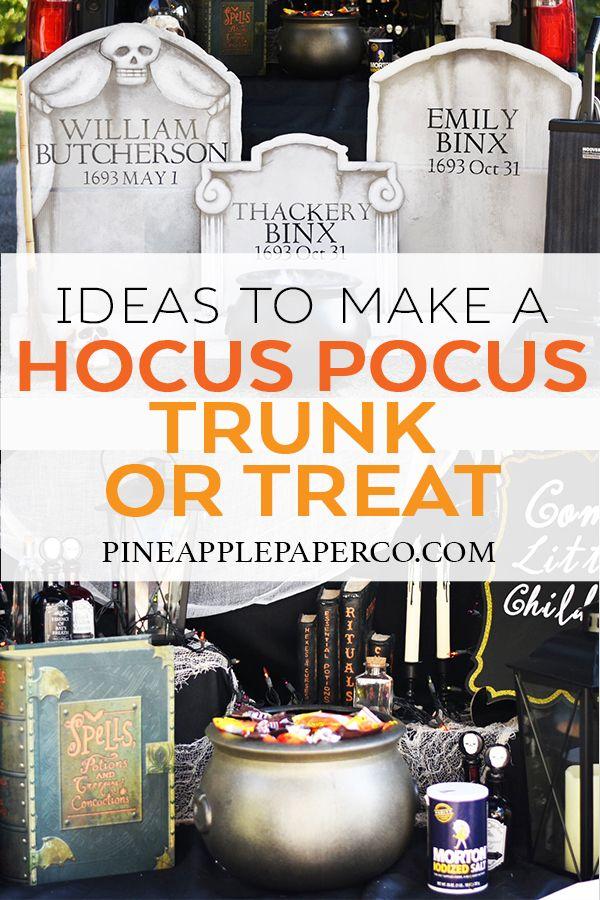 Hocus Pocus Trunk or Treat Ideas with Oriental Trading  Cricut