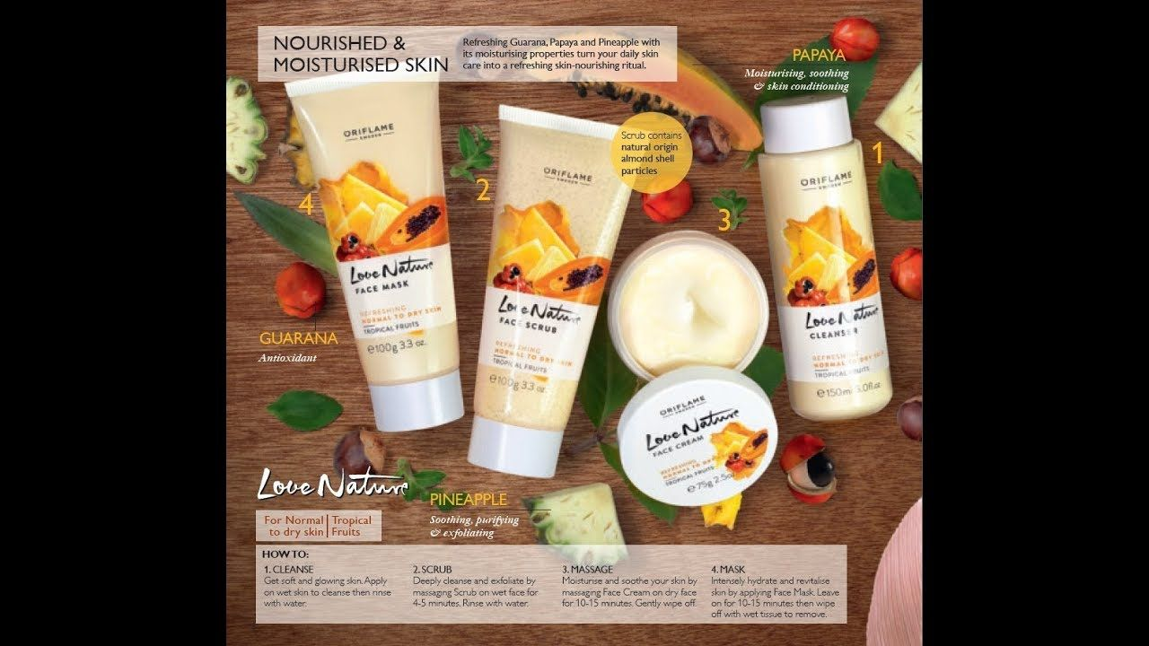 Pin By Beauty Fashion On Oriflame Cosmetics Pakistan Tropical Fruits Dry Skin Types Nourishment