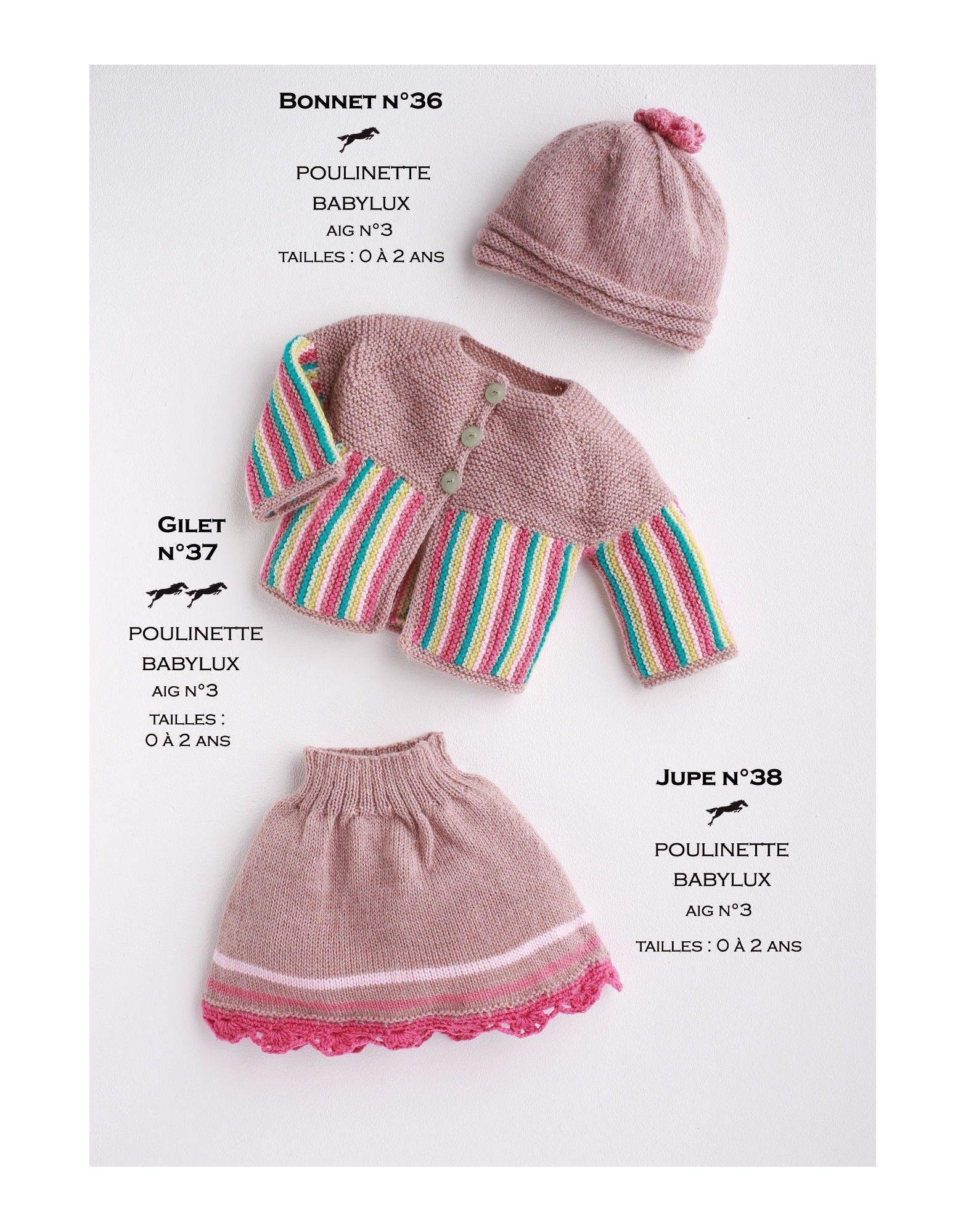 Modèle Gilet CB17-37- Patron tricot gratuit | crochet | Pinterest | Bebe