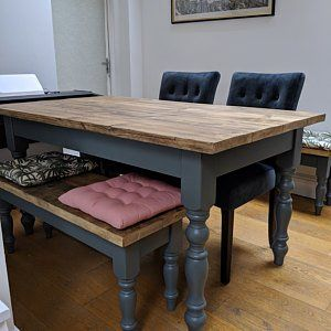 Reclaimed Farmhouse Dining Table - Rustic Kitchen