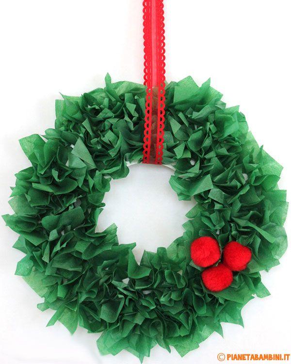 Lavoretti Di Natale Ghirlande Per Bambini.Ghirlanda Natalizia Fai Da Te Molto Semplice Da Realizzare Wreaths