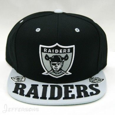 Mitchell   Ness Oakland Raiders Throwback NFL Arch Over Visor Snapback Hat d11bca7bf