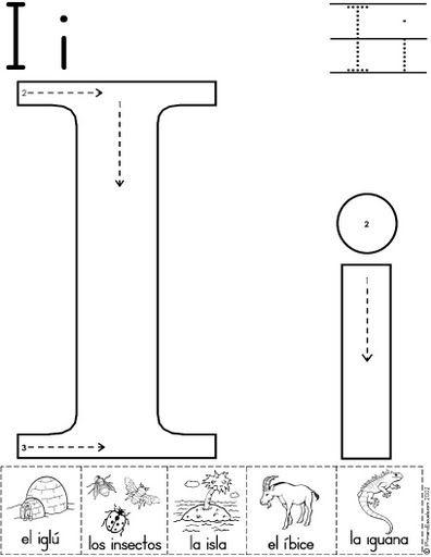 Fichas Infantiles Del Abecedario Y El Alfabeto Para Ninos Descargar Gratis Fichas Del Abecedario Y El Alfabeto In Alfabeto Para Ninos Trazos De Letras Letra I