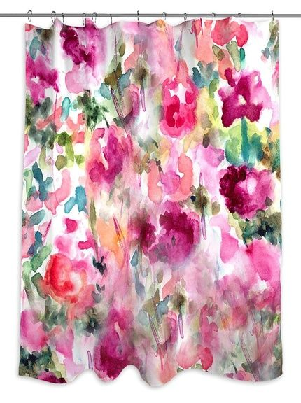 Oliver Gal In Wonderland Shower Curtain Welcome Springtime Into