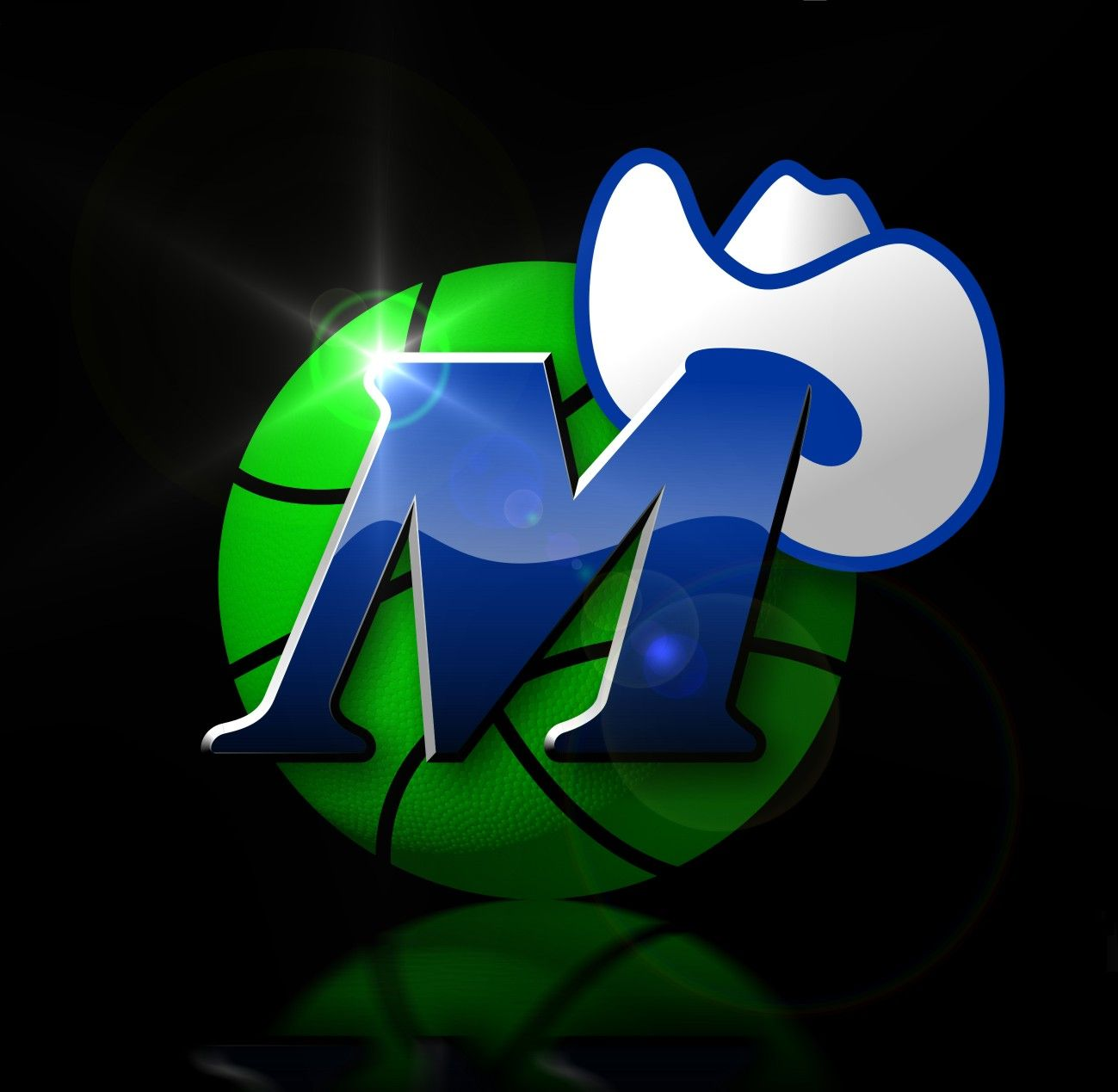 Modern Old School Mavericks logo, Dallas mavericks