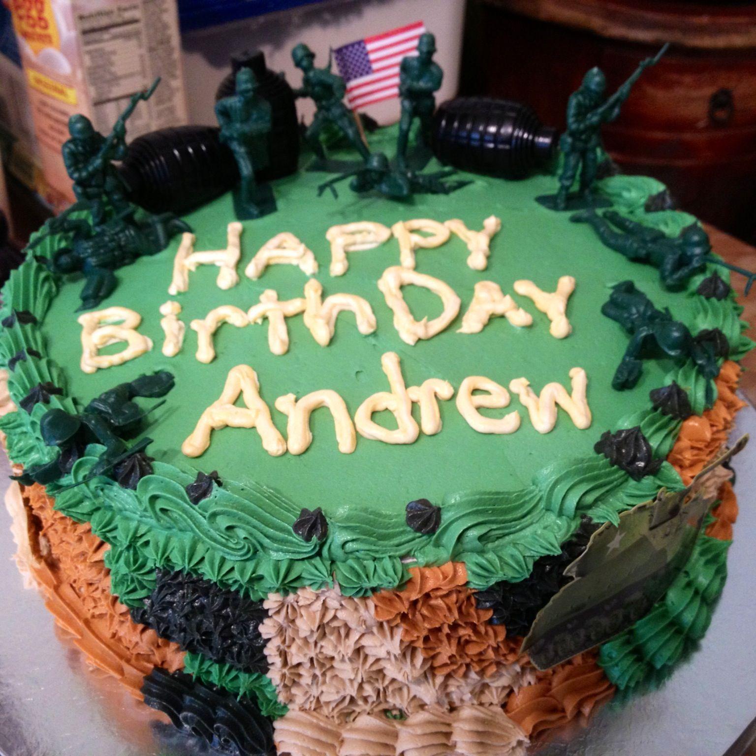 Simple Army Birthday Cake Army Birthday Cakes Cake Birthday Cake