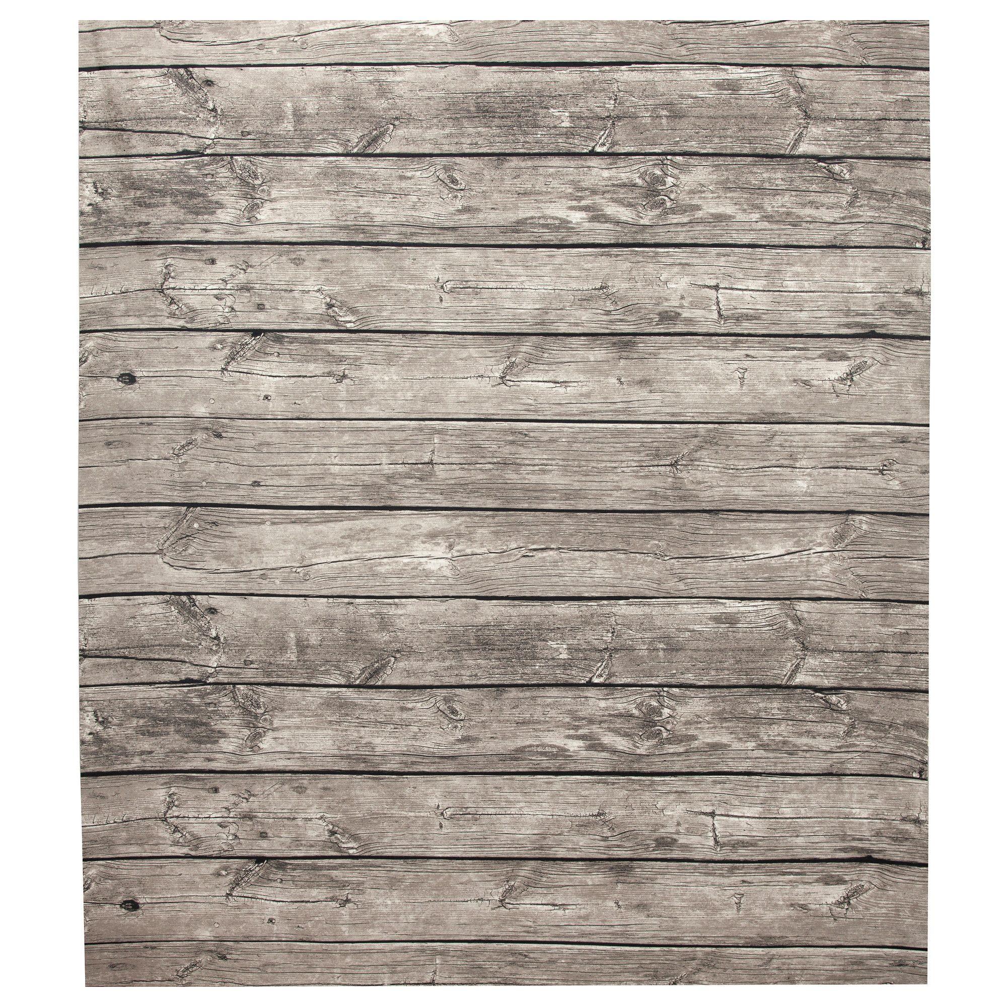 Ikea Canada LISEL Plastic-coated Fabric, Wood Effect