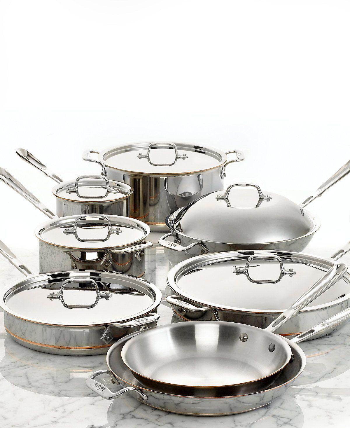Allclad coppercore 14pc cookware set cookware