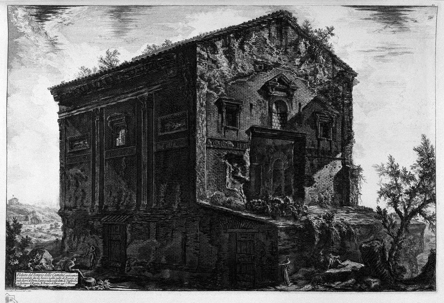 Giovanni Battista Piranesi - The Roman antiquities, t. 1, Plate XXIII. Aventine Hill.