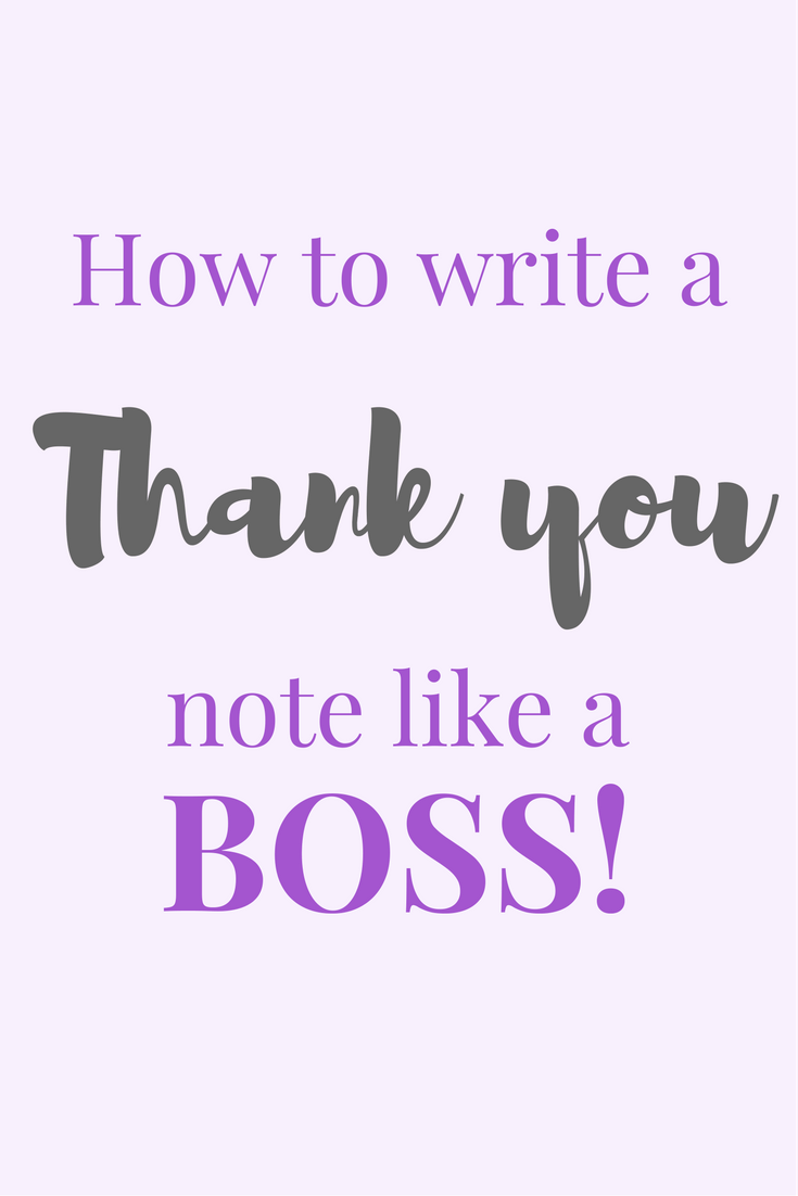 How To Write A Thank You Note Like A Bamf  Appreciation And Note
