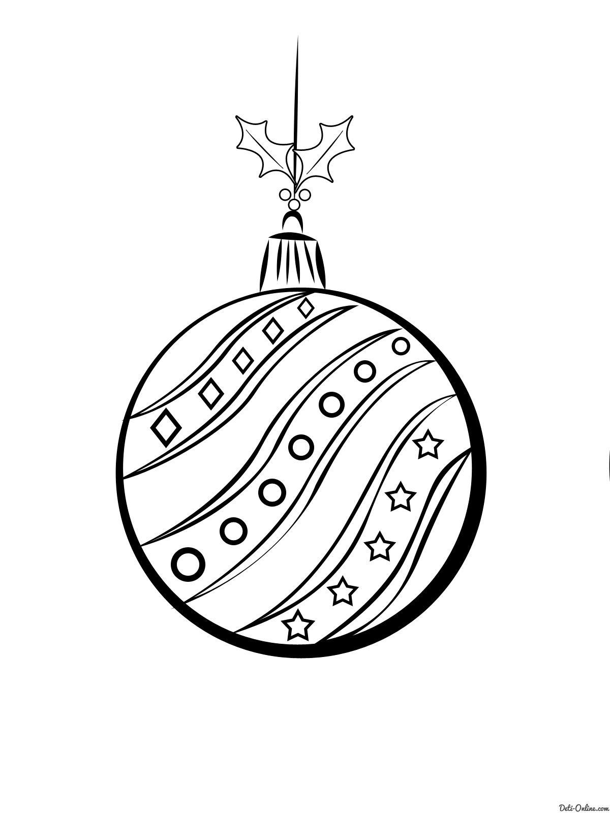 новогодние шары раскраска - Поиск в Google ...
