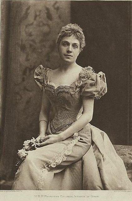 Infante Eulalie d'Espagne (1864-1958), duchesse de Galliera, 8ème enfant de la reine Isabel II