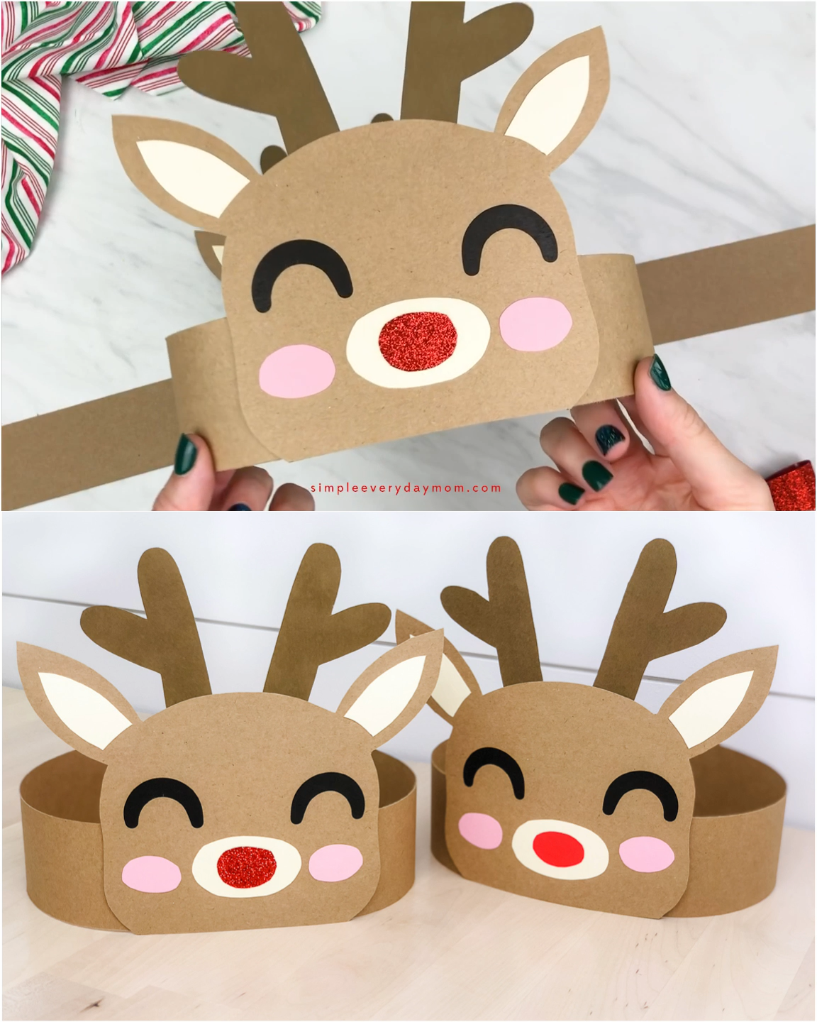 Photo of Reindeer Headband Craft For Kids #preschoolers This cute Rudolph the red nosed r…