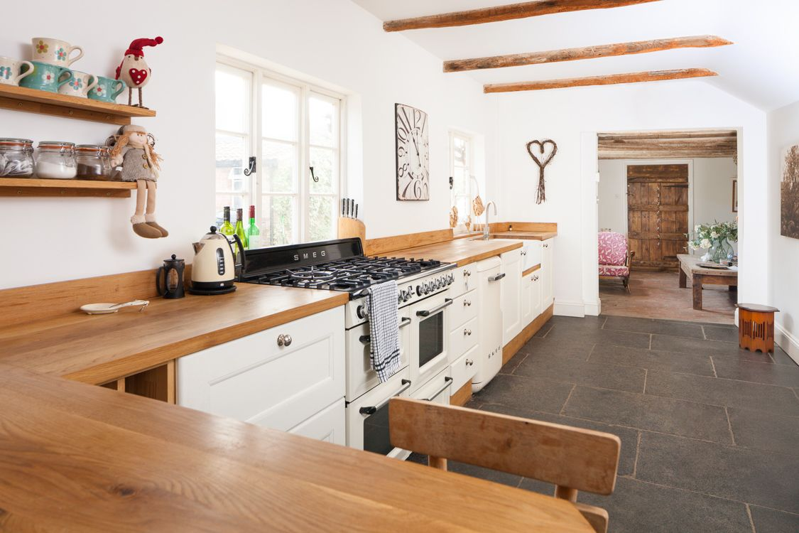 Küchenschränke weiß  schrecklich weiß und holz küche bilder inspirationen  wenn es