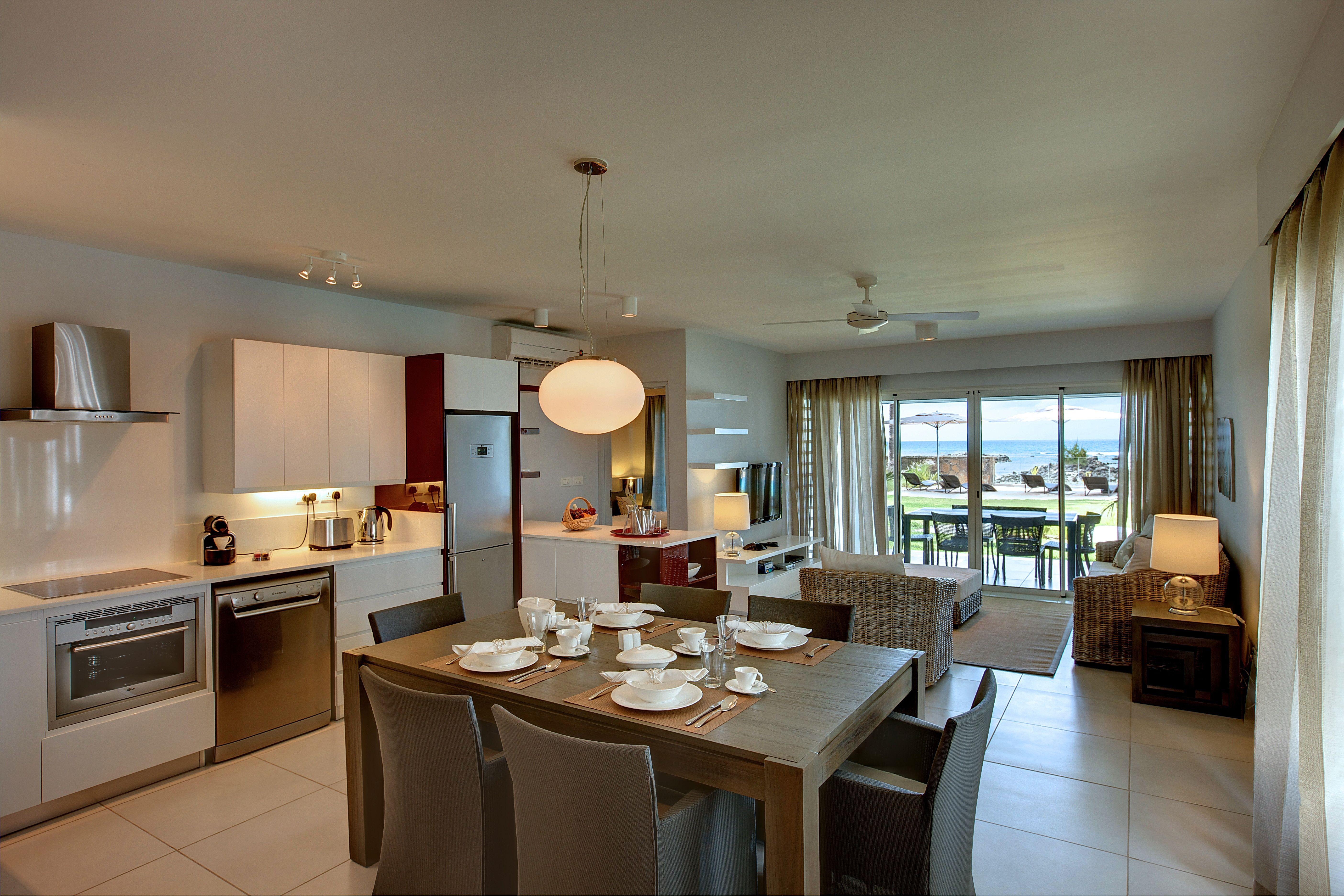 Inside of the Beachfront apartment Kitchen, Kitchen