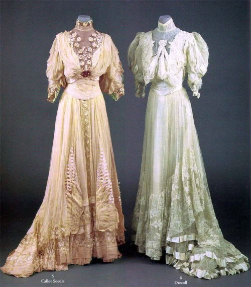 Edwardian tea gowns.Source