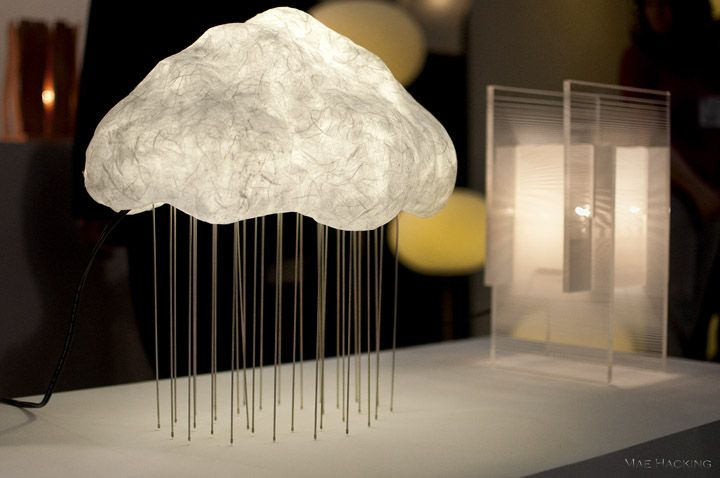 Table lamp resembling cloud & rain by Abovo at  2011 International Contemporary Furniture Fair