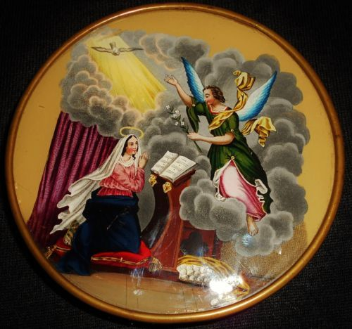 0cca8fcf49 Antique French Candy Box Painted Under The Glass 1830 - 1840 in Collectibles
