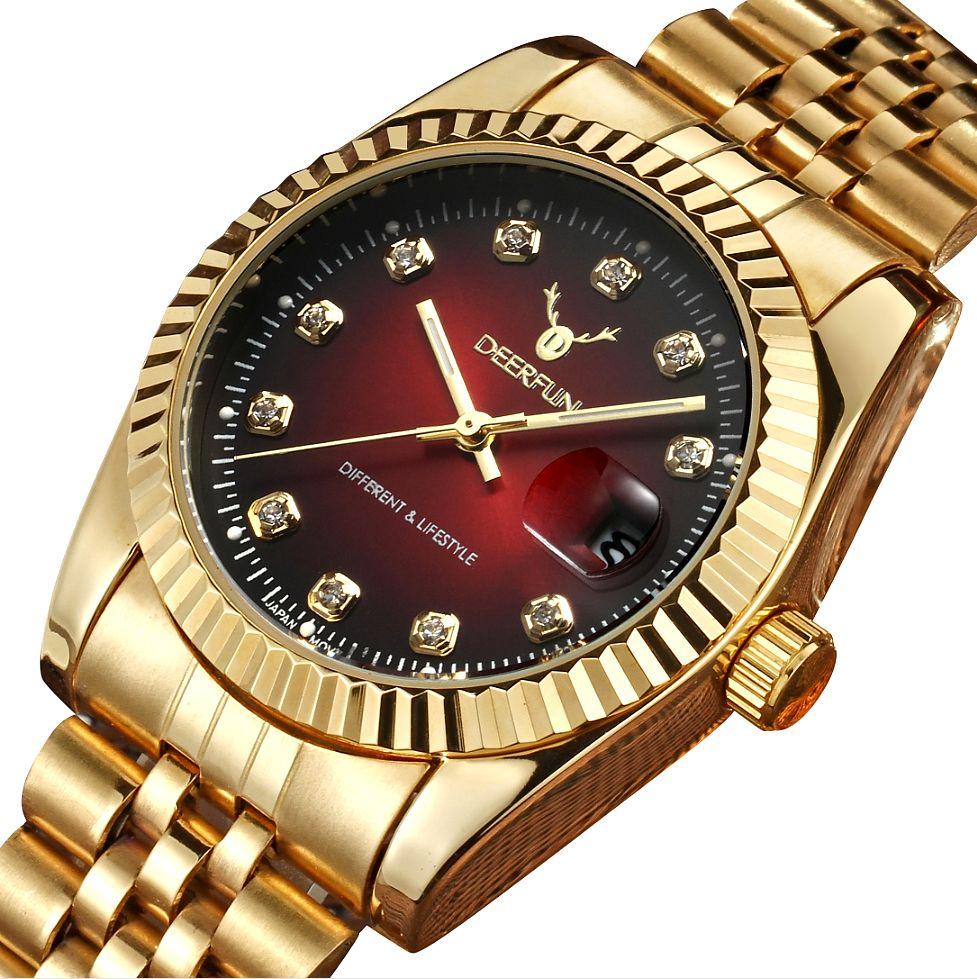 36f7af99acb DEERFUN watch women fashion luxury watch Reloj Mujer Stainless Steel  Quality Diamond Ladies Quartz Watch Women Rhinestone Watches