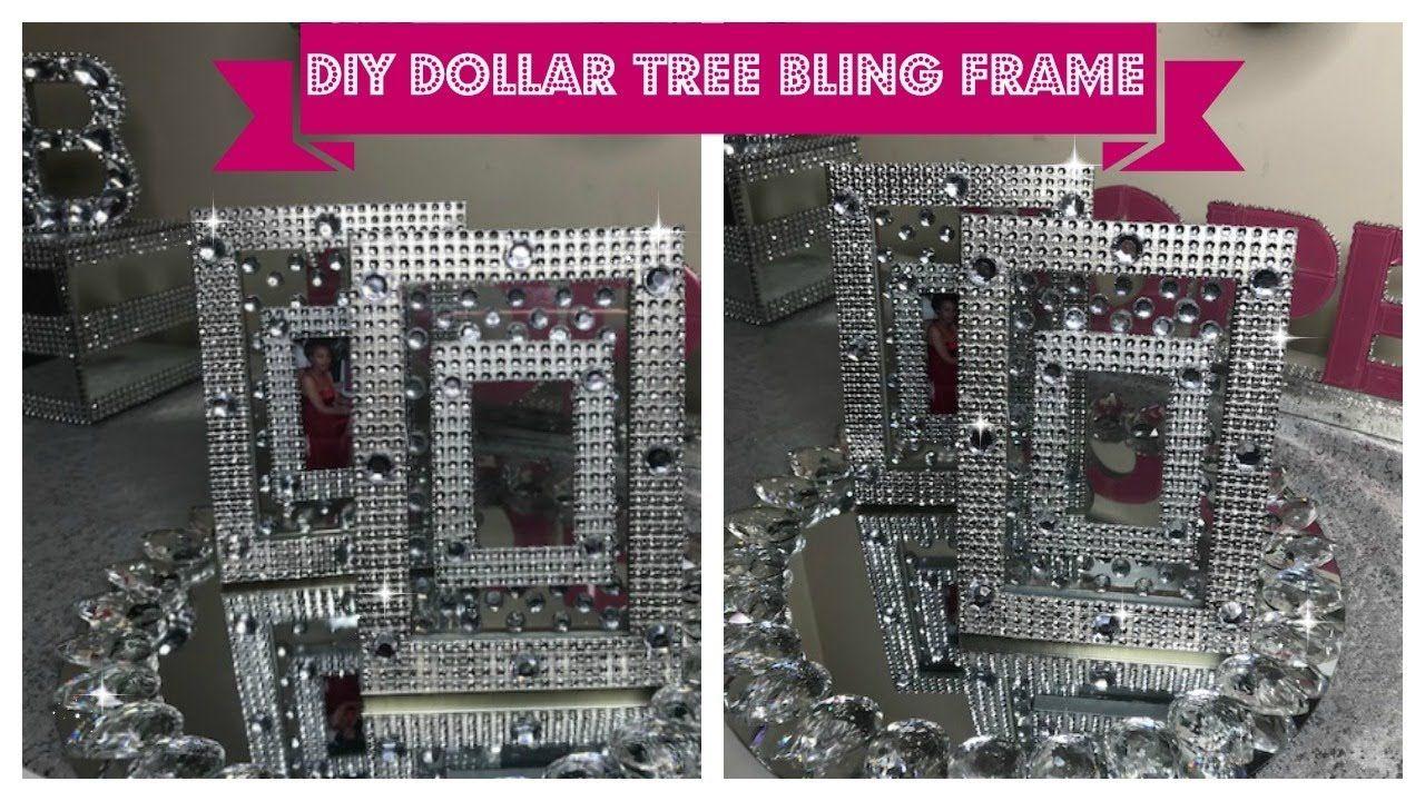 Diy dollar tree bling frame simple sunday diy youtube