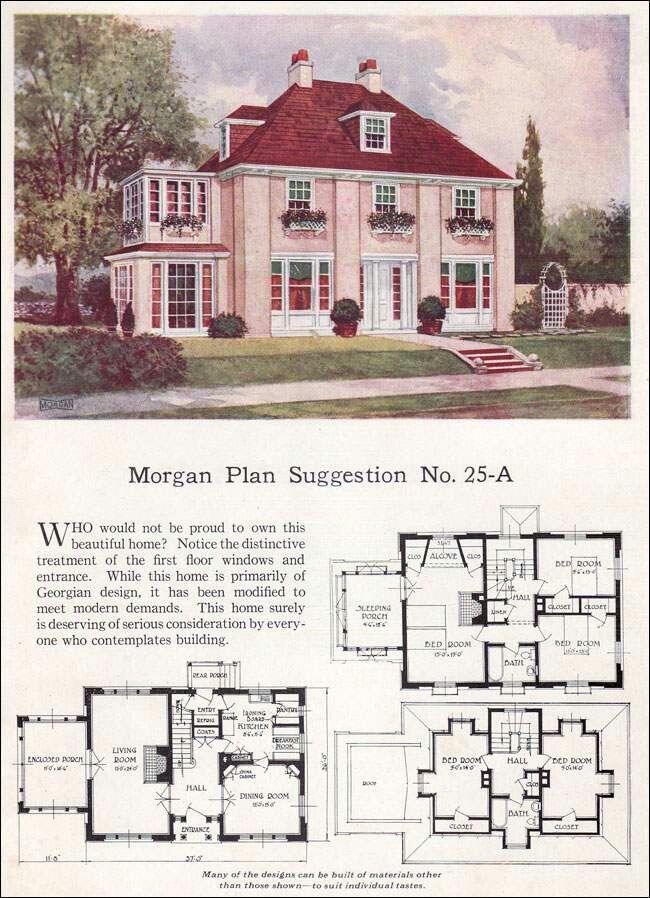 Georgian House Plans Vintage House Plans House Design