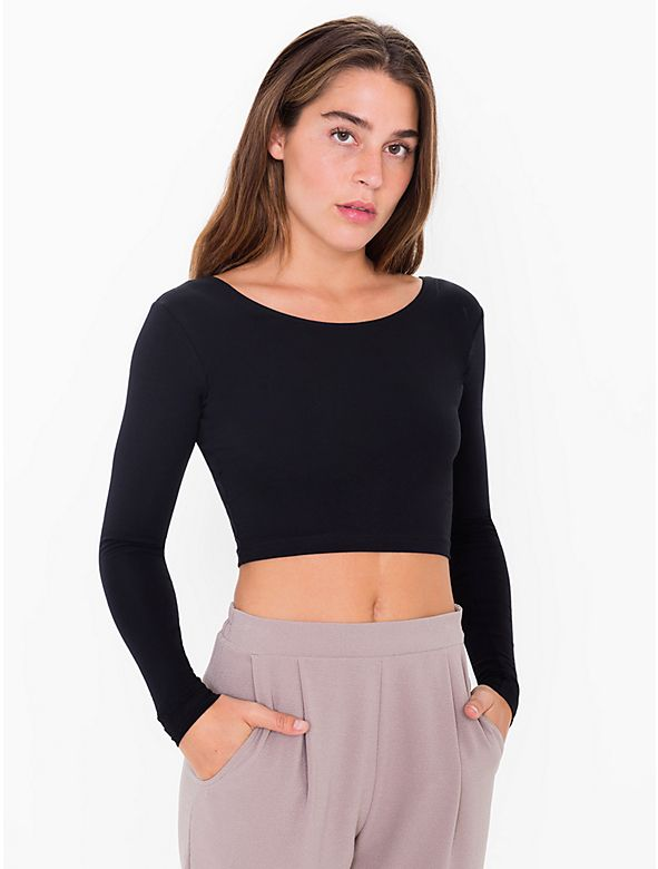 f4e69c11906 Cotton Spandex Jersey Long Sleeve Crop Top. Find this Pin and more on American  Apparel ...