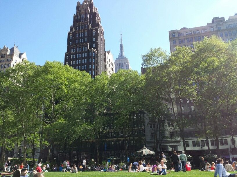 Beautiful weather at Bryant Park