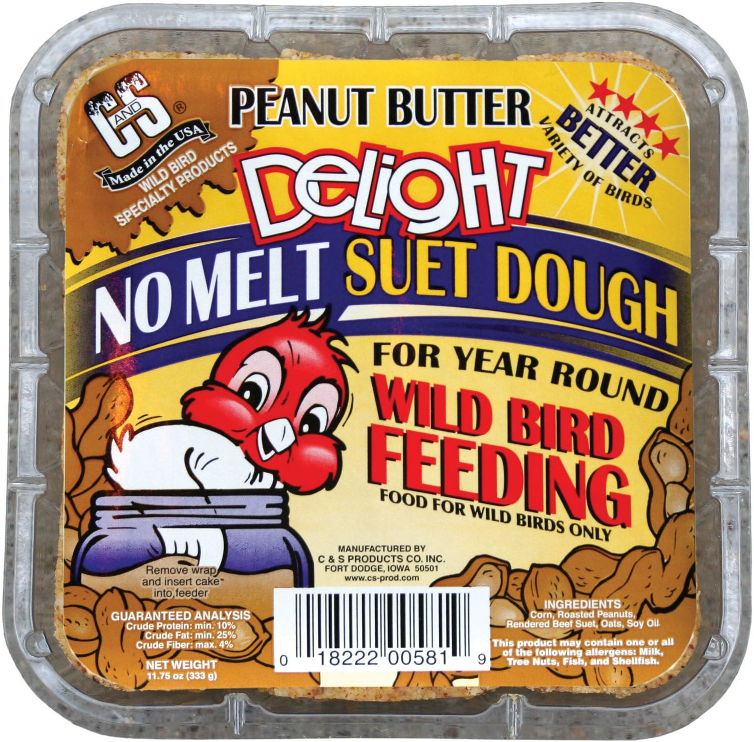 Birds peanut butter delight suet by c and s 1175 ounce