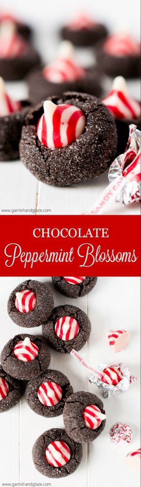 Chocolate Peppermint Blossoms - Garnish & Glaze