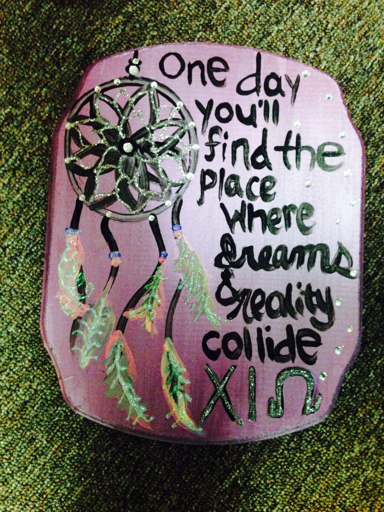 DIY sorority crafts. Inspirational piece for my pledge sis <3