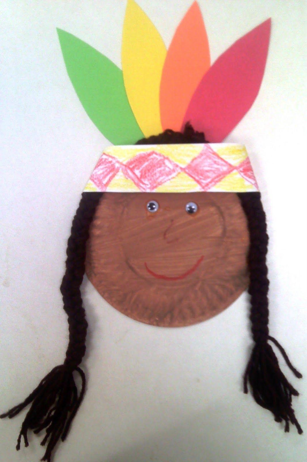 Crafts For Preschoolers Paper Plate Native American