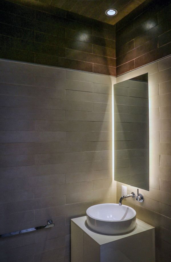 Home Is Replaced With Smaller Sustainable One Design Milk Home Lighting Design Bathroom Design Led Mirror Bathroom
