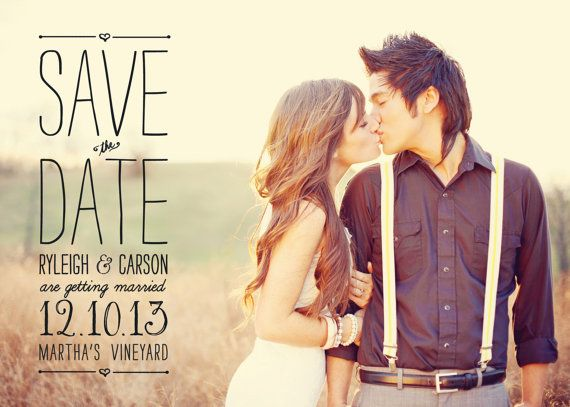 cute Save the Date format.