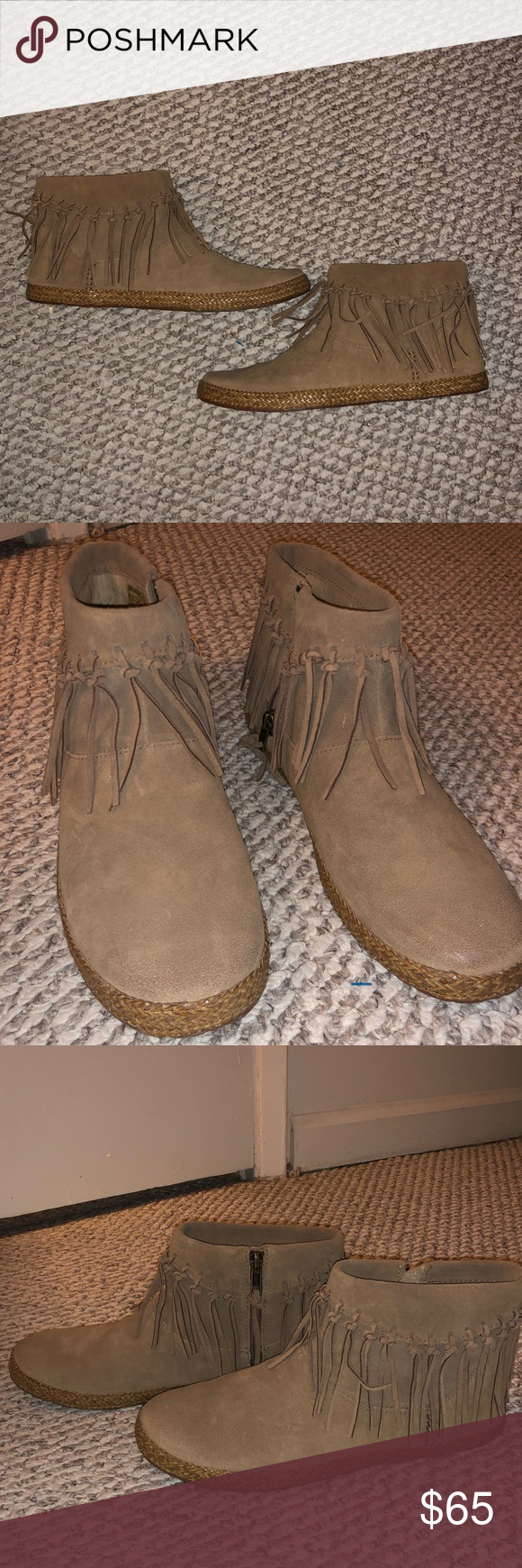 755bf05591a Ugg Shenendoah Moccasin Booties Never worn, tan leather UGG moccasin ...