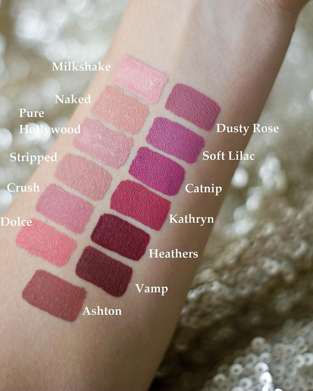 anastasia beverly hills liquid lipstick swatches make up must haves pinterest anastasia. Black Bedroom Furniture Sets. Home Design Ideas