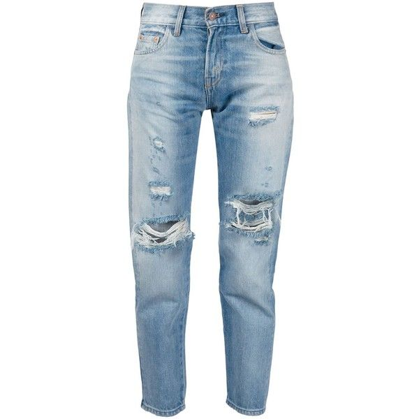 Levi's Vintage Clothing distressed jeans ($400) ❤ liked on ...