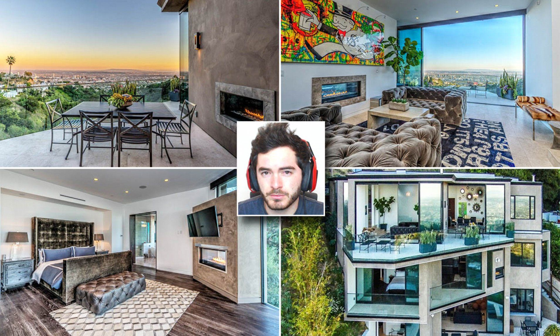 Youtube Star Buys Luxury Mansion In Hollywood Hills For 4 5million Crazy Houses Mansions Mansions Luxury