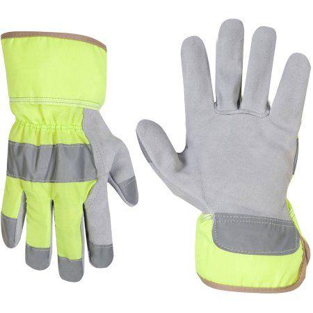 CLC Work Gear 2150L Large Hi-Viz Safety Cuff Work Gloves, Multicolor