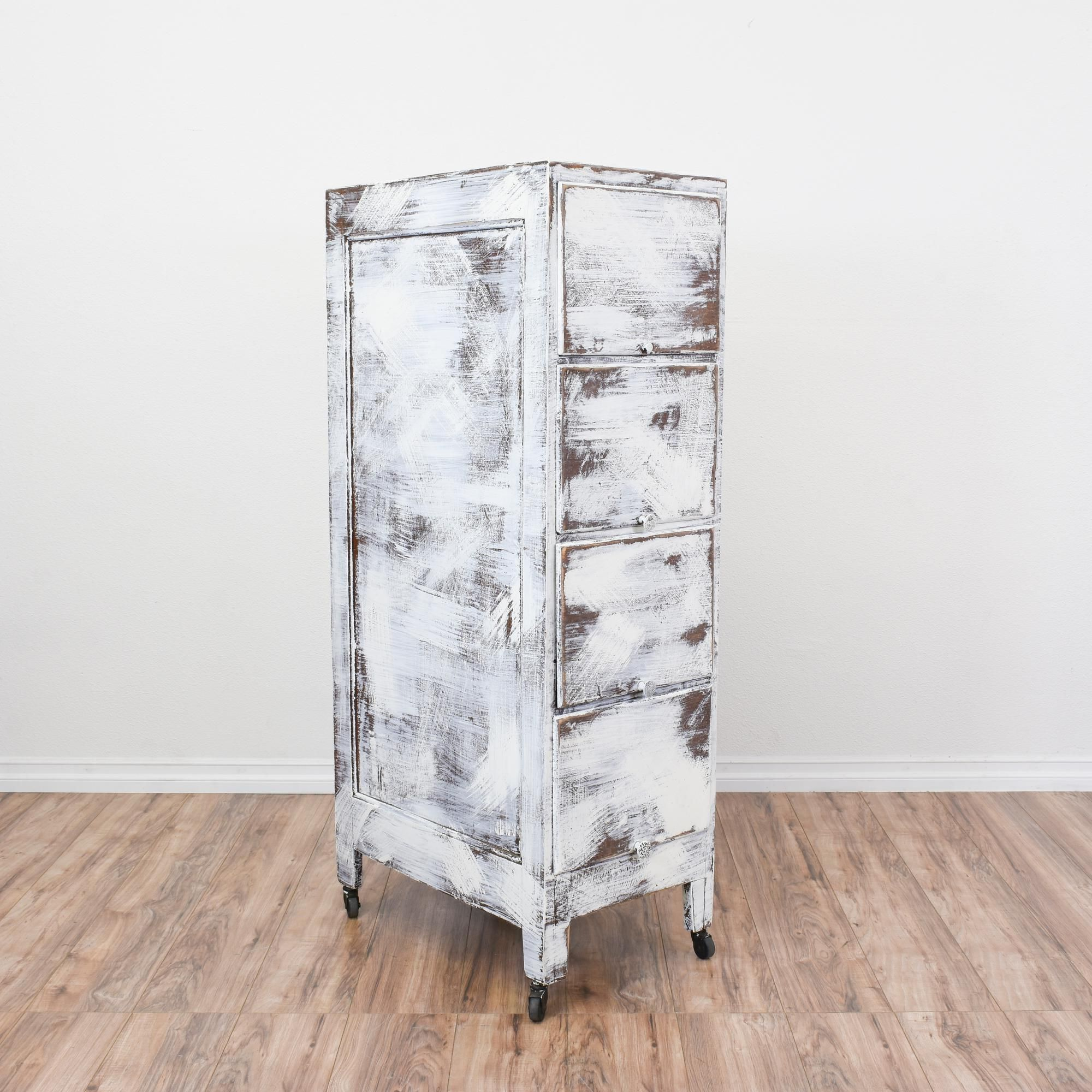 This Shabby Chic Filing Cabinet Is Featured In A Solid Wood