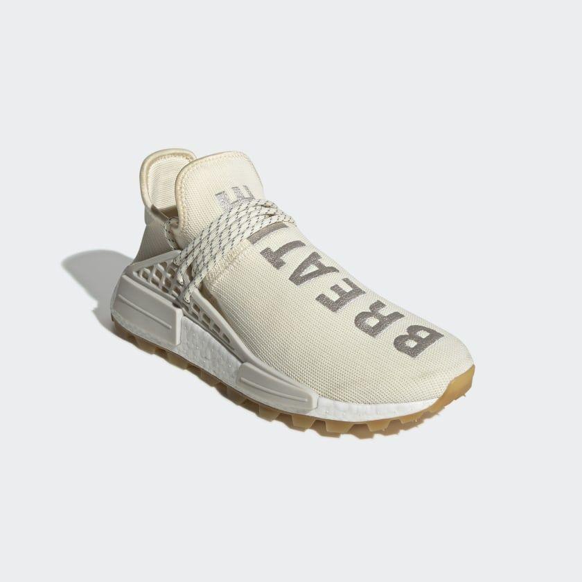 Pharrell Williams Hu Nmd Shoes Cream White Raw White Gum Eg7737 Adidas Pharrell Williams Nmd Shoes Pharrell Williams