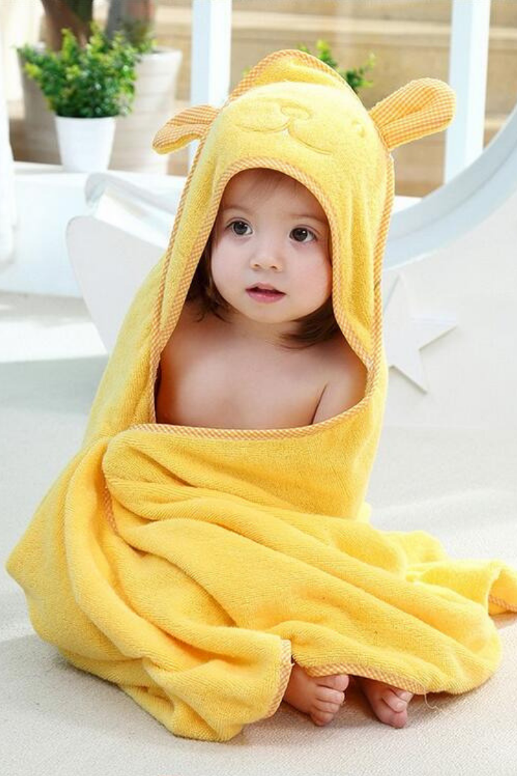 Hello Sunshine Bath Time Is Extra Fun With Our Yellow Hooded